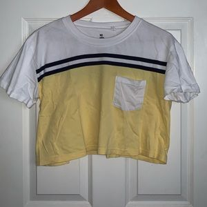 PacSun cropped pocket tee